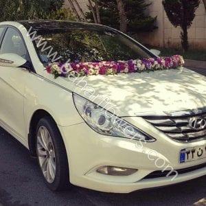 گل ماشین عروس کد 605