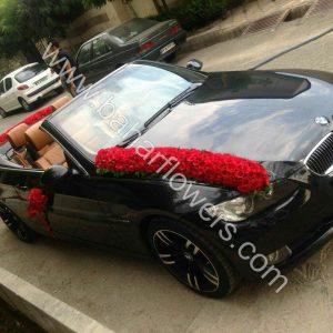 گل ماشین عروس کد 606
